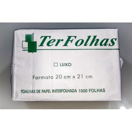 Papel Toalha Interfolhado 2 Dobras Folha Simples Pacote c/ 1000 Folhas