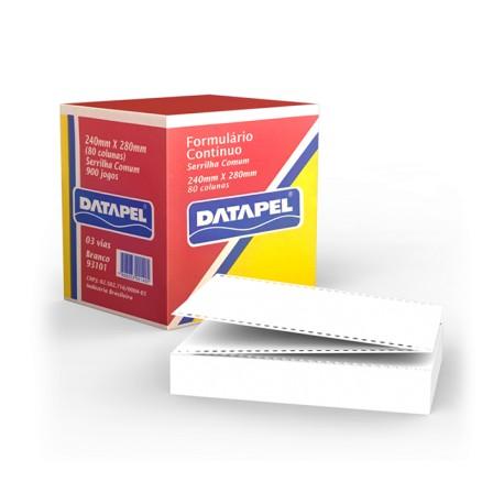 Formulário contínuo 80 colunas 3 vias 900 jogos Datapel 93101