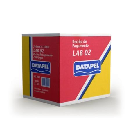 Formulário Contínuo Datapel 2 Via - Recibo - 140 x 235 - Pagamento