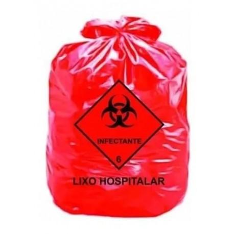 SACO DE LIXO INFECTANTE  VERMELHO 50 LITROS - AZEPLAST