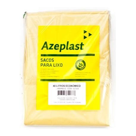 Saco de Lixo 40 Litros Economico Azeplast Pacote com 100 Unidades - Amarelo