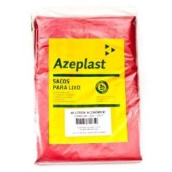 Saco de Lixo 40 Litros Economico Azeplast Pacote com 100 Unidades - VERMELHO