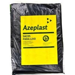 Saco de Lixo 110 Litros Econômico Azeplast Pacote com 100 Unidades - Preto