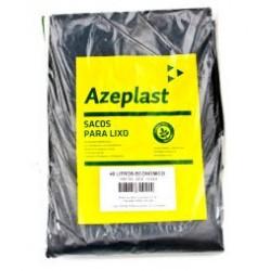 Saco de Lixo Preto 40 Litros Econômico Azeplast Pacote com 100 Unidades
