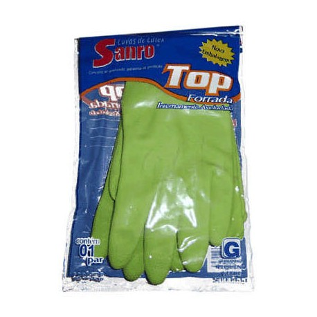 Luva Forrada Top Verde Grande - Sanro