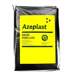 Saco de lixo 60L preto economico c/ 100 Azeplast (60X70X25)