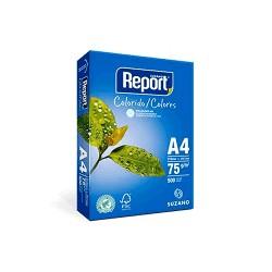 Papel Report A4 color azul pt/500fls