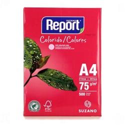 Papel Report A4 color rosa pt/500fls