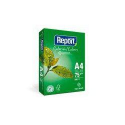 Papel Report A4 color verde pt/500fls