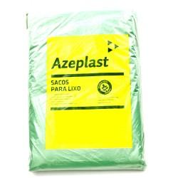 SACO DE LIXO VERDE 40L C/100 –  ( 0,55X0,55X25 ) - AZEPLAST